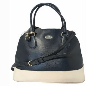 Coach New York Crossgrain Leather Satchel Bag